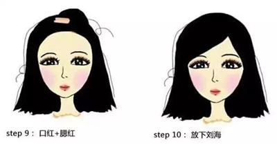 儿童化妆步骤图片大全