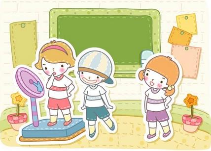 儿童体检卡通-孩子定检再不重视就该晚了