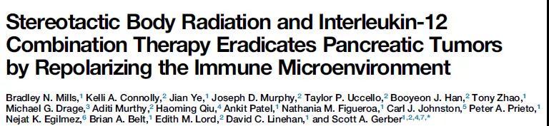 Cell Reports:新的胰腺癌联合治疗方案可逆转肿瘤微环境!