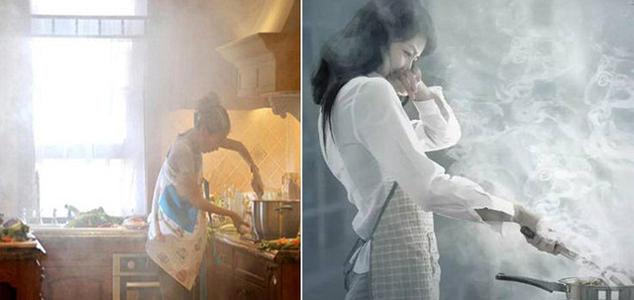 烹饪产生的油烟